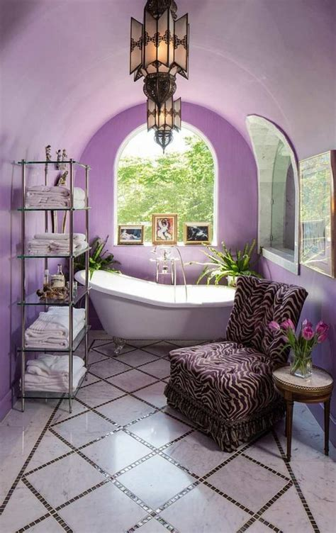 purple bathrooms     add  royal color