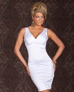 robe femme de cocktail mariage soiree sexy en coton With robe blanche ceremonie femme