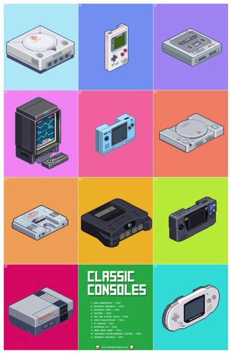 Pixel Art Video Game Pinterest Gaming Posters And