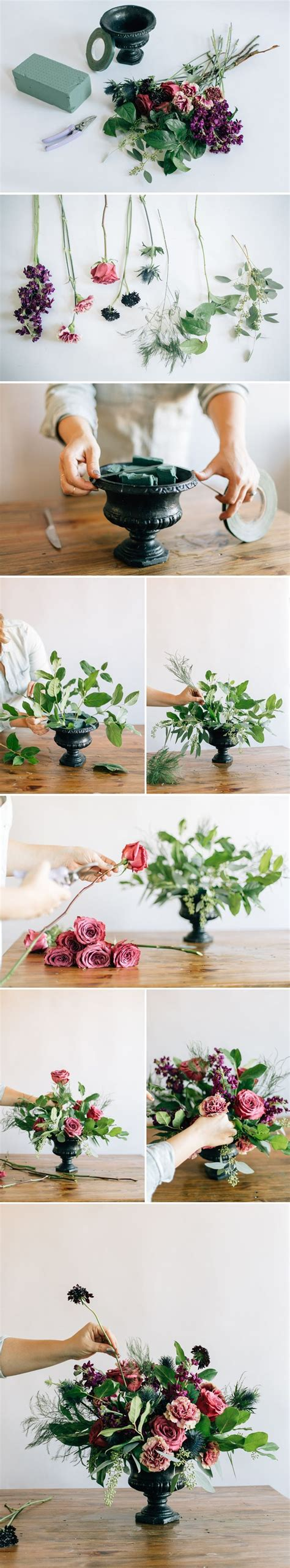 how to diy a floral urn centerpiece flowers plants