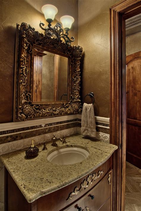 austin horchow mirrors powder room traditional