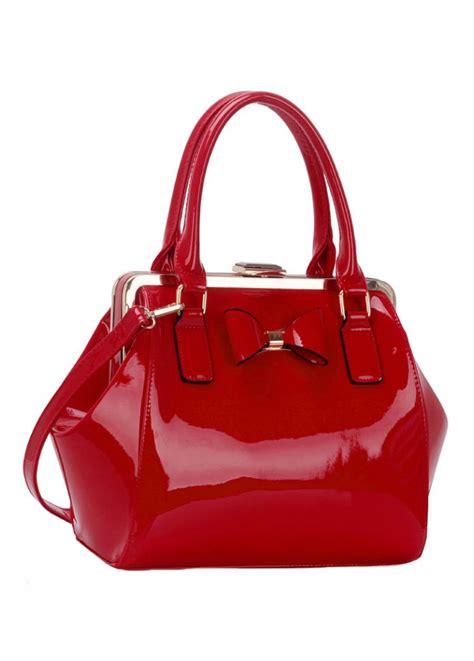 patent bow handbag attitude clothing