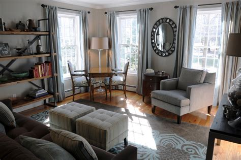 home office living room combination living room home office west newbury traditional living room boston by cheryl grant