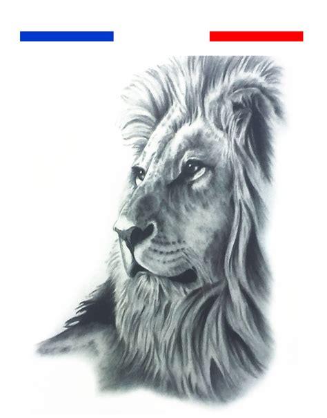 tatouage temporaire lion profil realiste mon petit