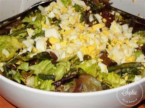 salade verte aux haricots verts et oeufs la tendresse en
