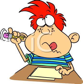 school work clipart dopey looking boy doing school work royalty free clipart