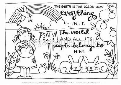 Coloring Psalm Sheets Bible Colouring Sheet Verse