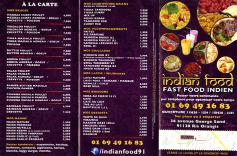 indian cuisine menu indian food ris orangis restaurant reviews phone