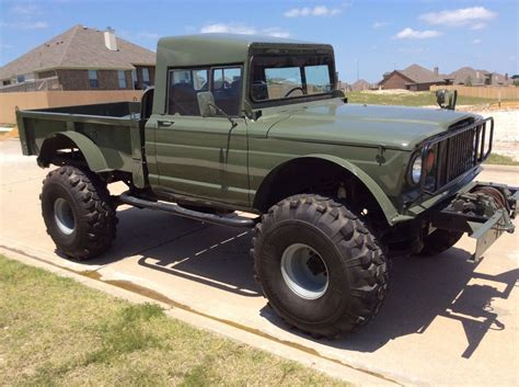 lifted jeep hummer  military rock crawler truck kaiser classic jeep    sale