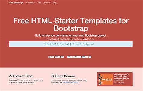 bootstrap 4 starter template start bootstrap starter html templates freebiesbug