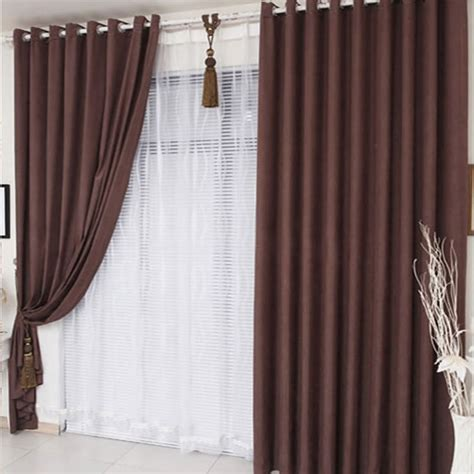 chocolate brown curtains are modern style