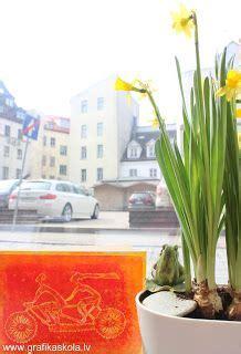 Grafikas darbnīca un mākslas studija : Pavasara krāsu košums bildēs