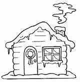 Coloring Hut Snow Huts Colouring Drawings Designlooter 686px 21kb sketch template