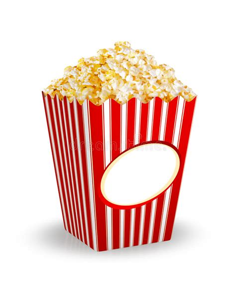 box  popcorn stock illustration illustration