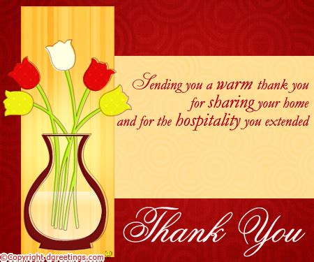 thank you for your hospitality thanks for hospitality quotes quotesgram