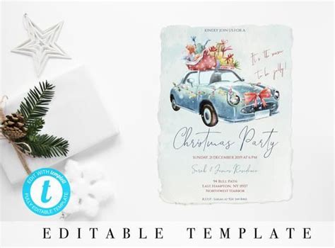 Christmas Party Invitation INSTANT DOWNLOAD It's time to