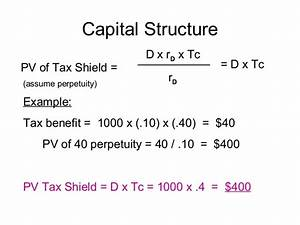 Tax Shield Berechnen : capital structure 1 ~ Themetempest.com Abrechnung