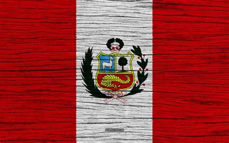 Descargar fondos de pantalla Bandera de Perú 4k América