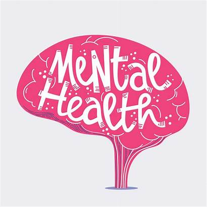 Mental Health Clipart Positive Vector Lettering Word