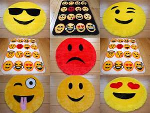 Cool Emoji Smily Face Rugs Fluffy Girls Boys Childrens