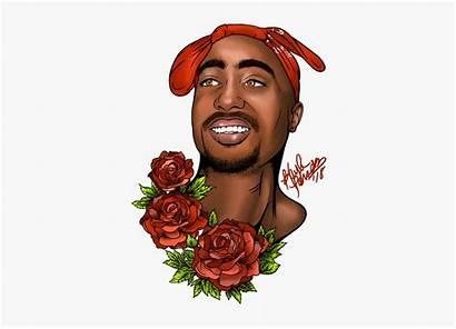 Tupac Shakur Cartoon Drawings Transparent Clipart Clipartkey