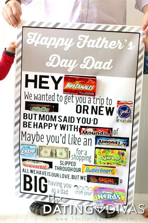 fathers day candy gram posters  dating divas