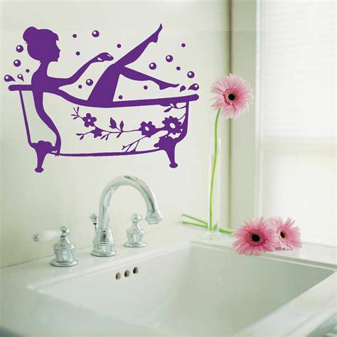 bathroom art decal bath time removable vinyl wall sticker