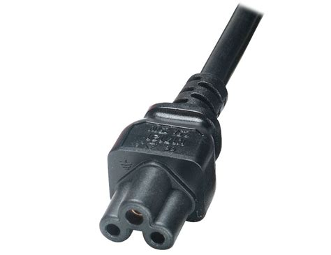 Cloverleaf (type C5) 3-pin Ac Mains Power Cords