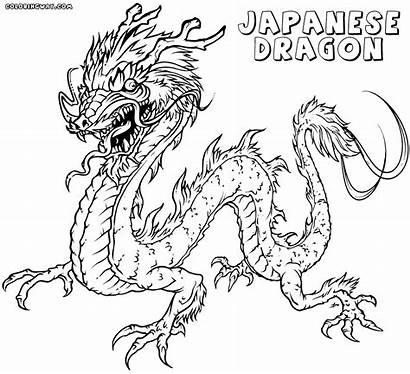 Dragon Coloring Japanese Colorings