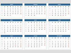Calendario 2018 con Feriados de Colombia Calendario 2018