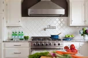 white kitchen tile backsplash arabesque tile