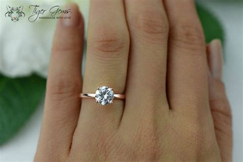 1 5 ct 4 prong engagement ring solitaire wedding ring