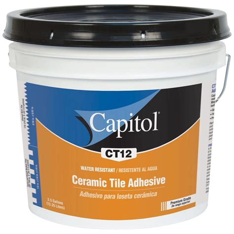 Mastic Tile Adhesive Time by Capitol 3 5 Gal High Performance Ceramic Tile Adhesive