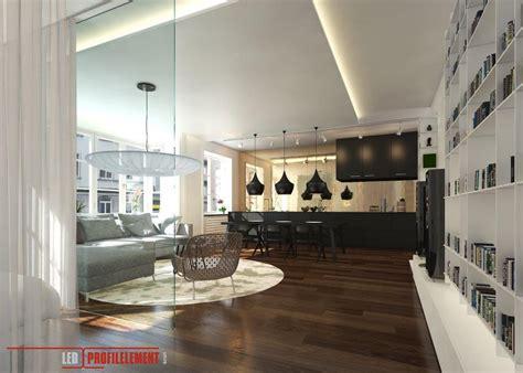 Wohnzimmer Led Beleuchtung by Wohnzimmer Mit Indirekte Beleuchtung Durch Led Profile Und