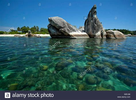 indonesia belitung island view  bird island stock