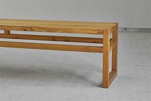 Sitzbank Mit Lehne Holz : einfache sitzbank sena aus massivem holz von vitamindesign ~ Frokenaadalensverden.com Haus und Dekorationen