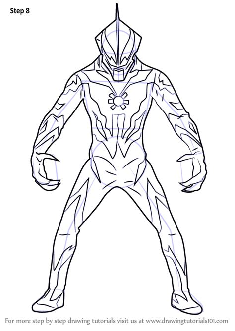 Coloring Ultraman by Learn How To Draw Ultraman Belial Step By Coloring Pages