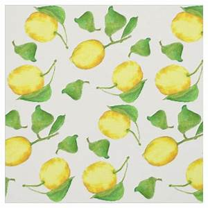 Lemons Citrus Fruit Watercolor Fabric Zazzle