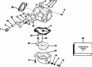 Johnson Carburetor Parts For 1985 50hp J50tlcob Outboard Motor