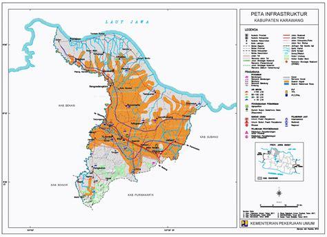 peta kota peta kabupaten karawang