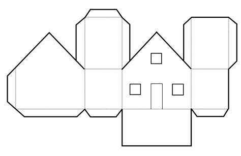 Haus Basteln Aus Papier Vorlage