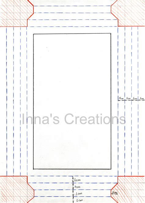 frame template inna s creations how to make a simple paper frame