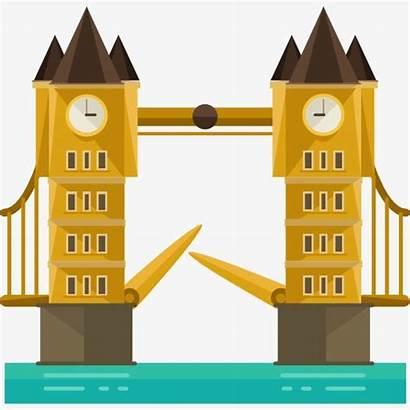 Bridge London Cartoon Clipart Icon Icons Transparent