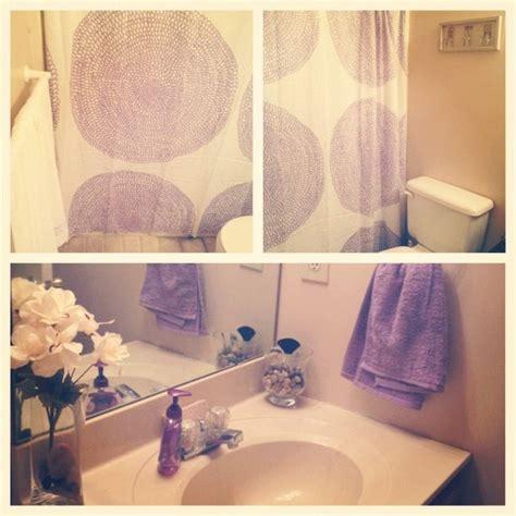 lavender bathroom decor hair and
