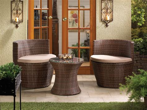 faux wood patio furniture faux rattan patio set