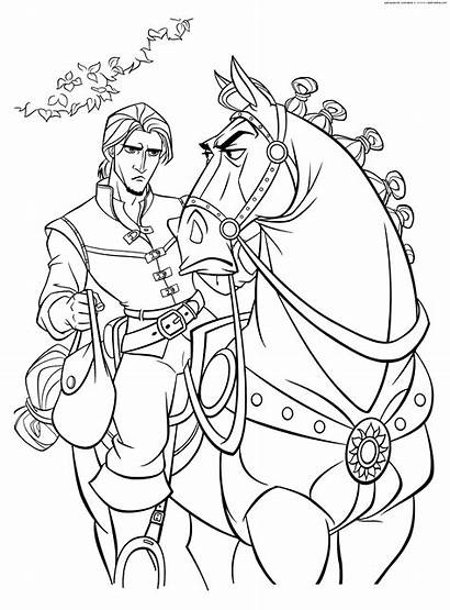 Maximus Coloring Tangled Pages Disney Rapunzel Flynn