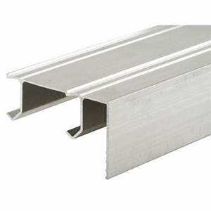 n 7084 bi pass closet door track only 96quot extruded With bi pass closet door hardware