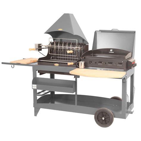plancha encastrable cuisine barbecue et plancha au charbon de bois et au gaz