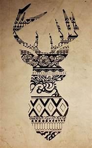 Drawing reindeer aztec | Drawings | Pinterest | Aztec ...