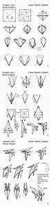 Origami  Royal Dragon Diagrams By